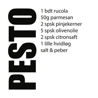 Pesto Wallsticker  Sort