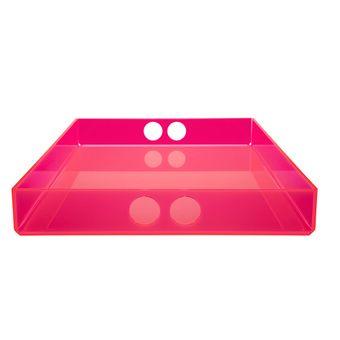 tray big  pink