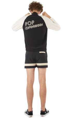 BLOUSON WITH POP EMBROIDERY  BLACK/SAND