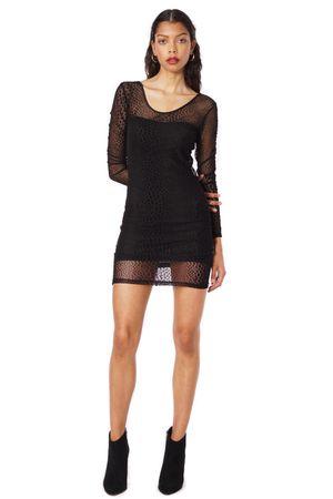 LEOPARD DRESS  BLACK