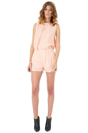 VISCOSE SHORTS WITH CONTRAST TRIM   ROSE