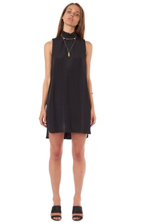 VISCOSE DRESS	  BLACK