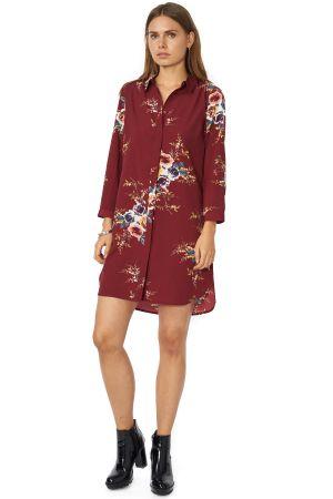 POP COPENHAGEN - FLORAL PRINTED SHIRT DRESS