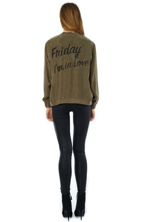 FRIDAY I'M IN LOVE CUPRO BOMBER - POPCopenhagen