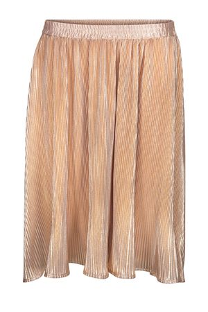 POP COPENHAGEN GOLDEN PLEATED SKIRT