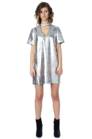 POP COPENHAGEN - HEAVY METALLIC DRESS