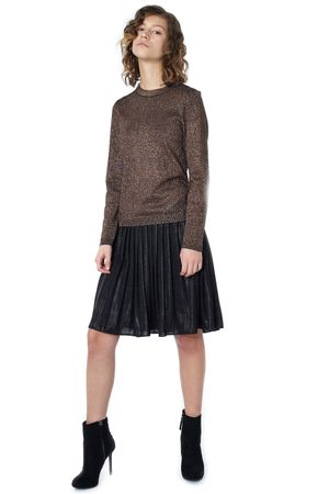 POP COPENHAGEN - KNITTED LUREX BLOUSE
