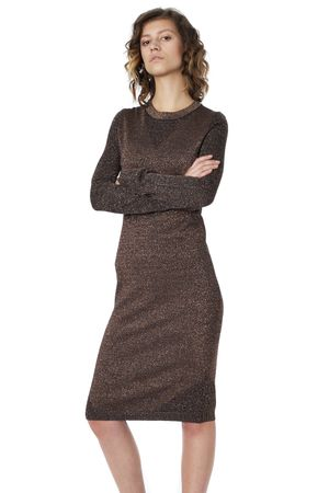 POP COPENHAGEN - KNITTED LUREX DRESS