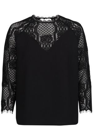 POP COPENHAGEN LACE & GEORGETTE RAGLAN BLOUSE