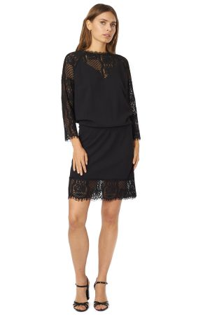 POP COPENHAGEN - LACE & GEORGETTE RAGLAN DRESS