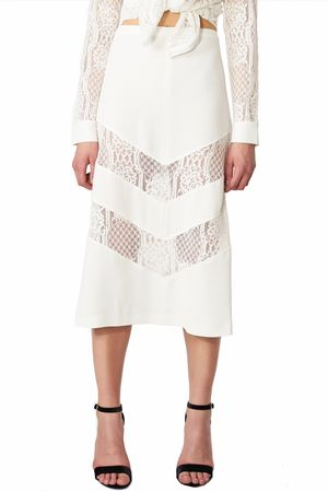 POP COPENHAGEN - LACE & GEORGETTE SKIRT