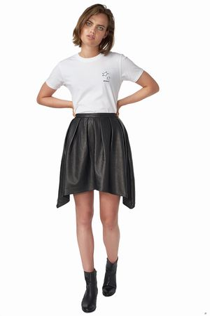 POP COPENHAGEN - LAMB SKIN HANDKERCHIEF SKIRT