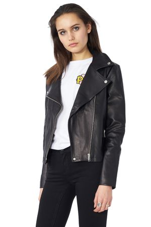 POP COPENHAGEN - LEATHER BIKER JACKET
