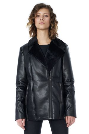 POP COPENHAGEN - LONG METAL BIKER JACKET
