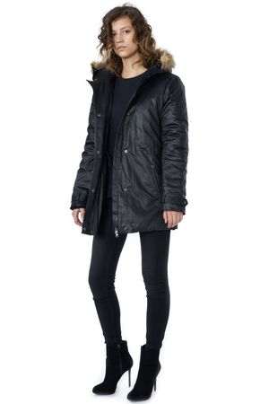 POP COPENHAGEN - PARKA COAT WITH FUR HOODIE