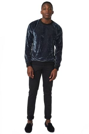 POP COPENHAGEN - PLUSH VELVET SWEATSHIRT
