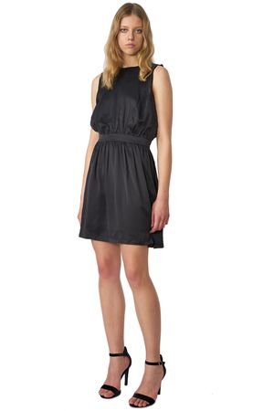 POP COPENHAGEN - RUFFLED SILK DRESS