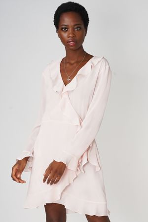 POP COPENHAGEN - RUFFLED WRAP DRESS