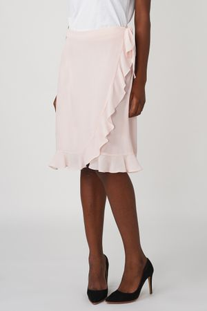 POP COPENHAGEN - RUFFLED WRAP SKIRT