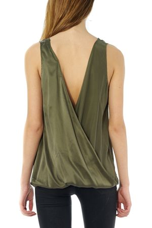 SAND-WASHED DRAPE TOP  - POPCopenhagen