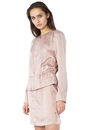 POP COPENHAGEN - SAND-WASHED SILK BLAZER