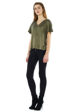 SAND-WASHED SILK TOP - POPCopenhagen