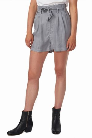 POP COPENHAGEN - SILK & CUPRO PAPERBAG SHORTS