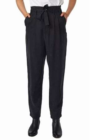 POP COPENHAGEN - SILK & CUPRO PAPERBAG TROUSERS
