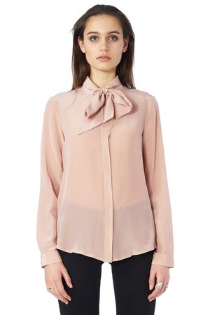 POP COPENHAGEN - SILK GEORGETTE ASCOT BLOUSE