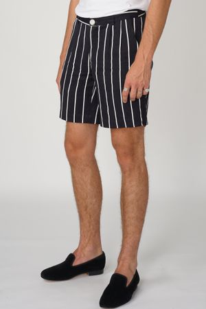 POP COPENHAGEN - STRIPED LINEN SHORTS