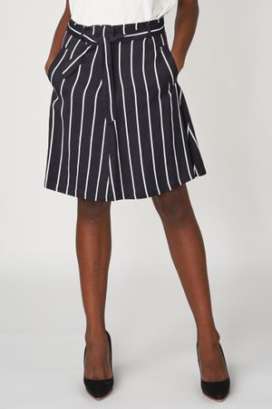 POP COPENHAGEN - STRIPED LINEN SKIRT