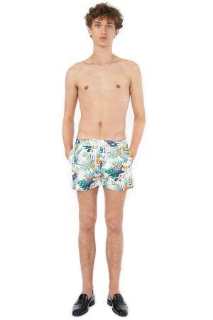 POP COPENHAGEN - TROPICAL PRINTED BEACH SHORTS