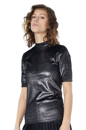 POP COPENHAGEN - VELVET GLITTER TOP
