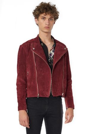 POP COPENHAGEN - WASHED SUEDE JACKET
