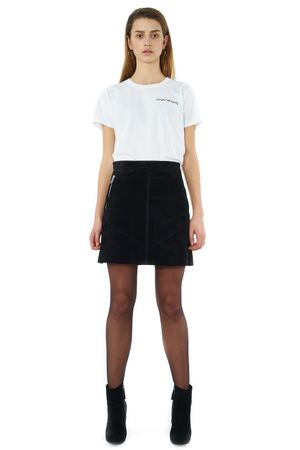 WASHED SUEDE SKIRT - POPCopenhagen