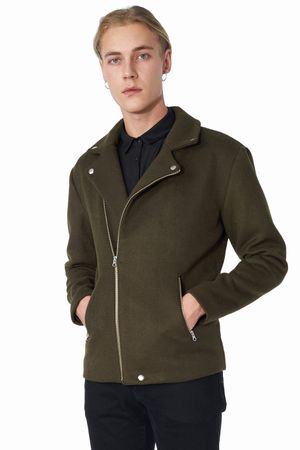 POP COPENHAGEN - WOOL BIKER COAT