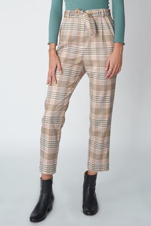 POP COPENHAGEN - WOVEN CHECKED TROUSERS