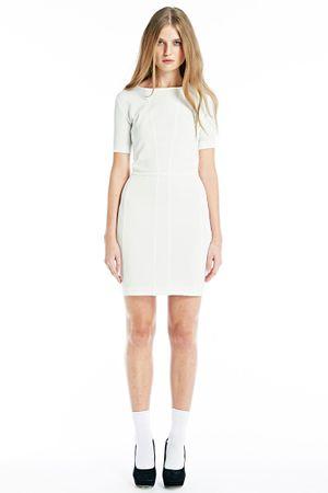 RAW BODYCON DRESS  WHITE