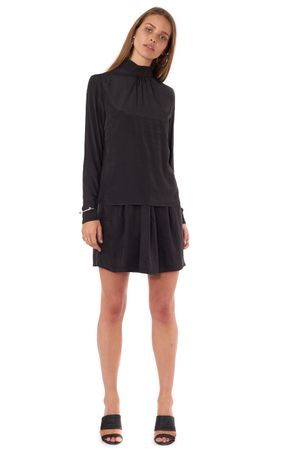 VISCOSE BLOUSE  BLACK