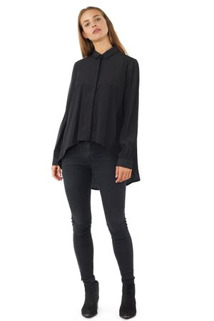 VISCOSE SHIRT  BLACK