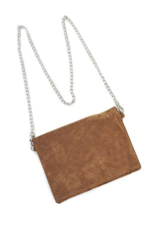 WASHED SUEDE CLUTCH WITH STRAP  CEDER