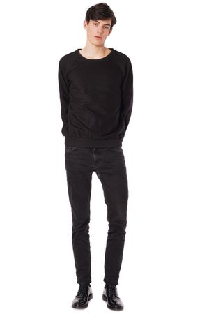 WOOLEN SWEATSHIRT  BLACK
