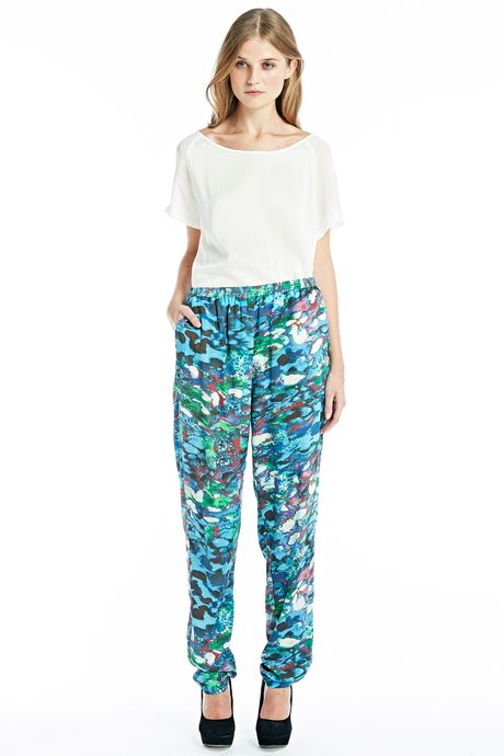 ABSTRACT COLOUR PRINT TROUSERS  PRINT