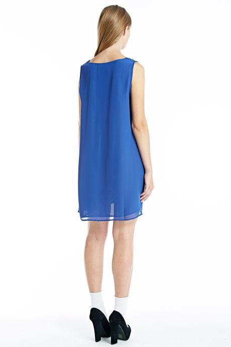 GEORGETTE DRESS  BLUE