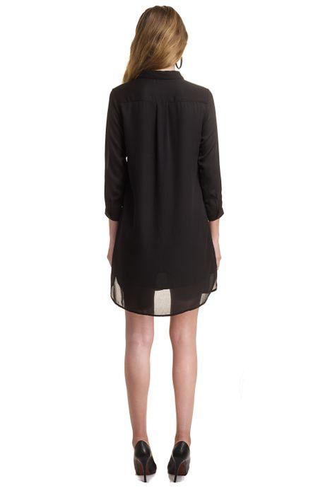 GEORGETTE SHIRT DRESS   MAGNOLIA