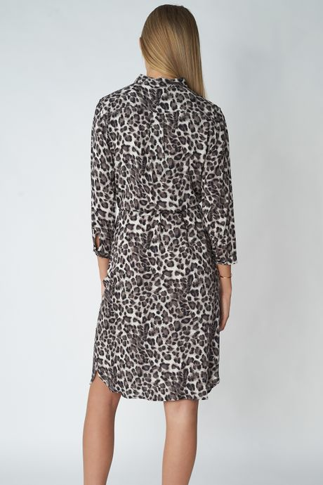 POP COPENHAGEN - ANIMAL SHIRT DRESS