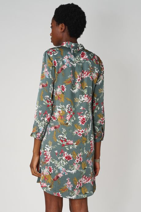 POP COPENHAGEN - BLOOM PRINTED SHIRT DRESS