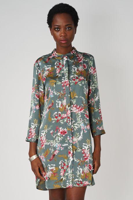 POP COPENHAGEN - BLOOM PRINTED SHIRT DRESS
