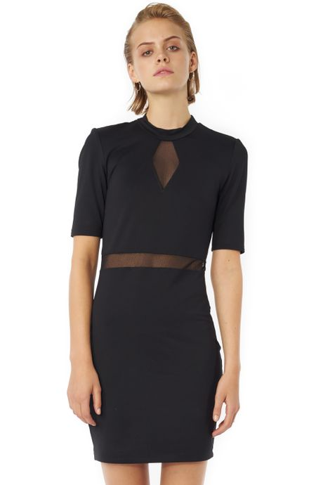 POP COPENHAGEN BODYCON DRESS WITH DIAMOND SHEER