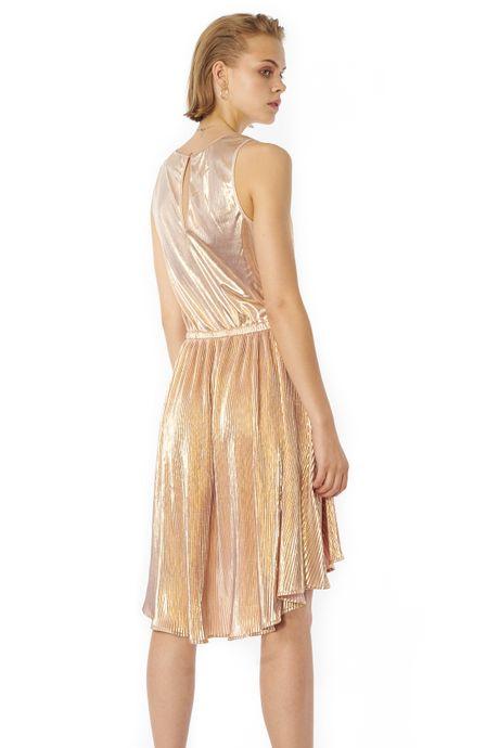 POP COPENHAGEN - GOLDEN PLEATED DRESS